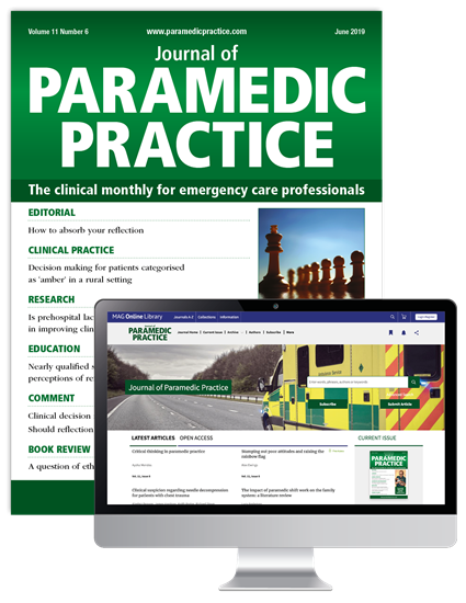 Picture of Journal of Paramedic Practice Print & Website