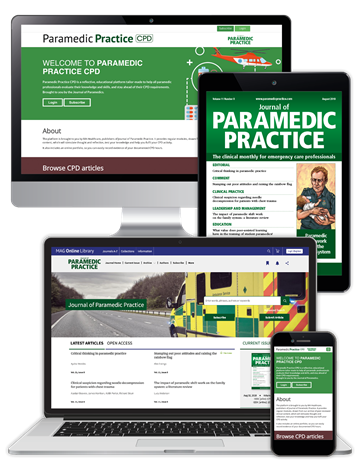 Picture of Journal of Paramedic Practice Premium - Digital, Website & CPD