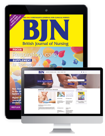 Picture of British Journal of Nursing Digital & Website