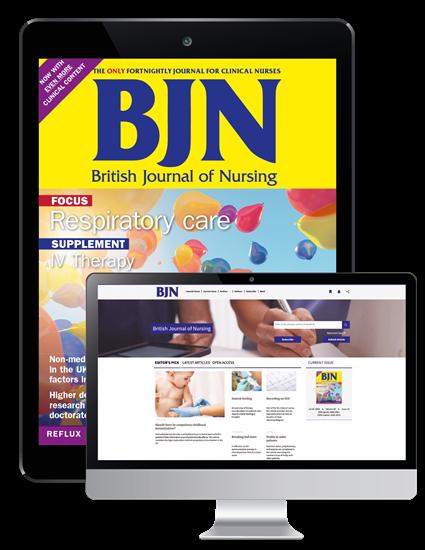 Picture of British Journal of Nursing Digital & Website