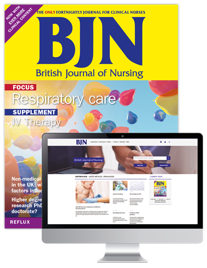 Picture of British Journal of Nursing Print & Website