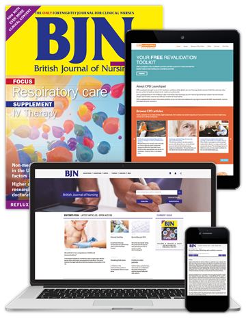 Picture of British Journal of Nursing Premium - Print, Website & CPD