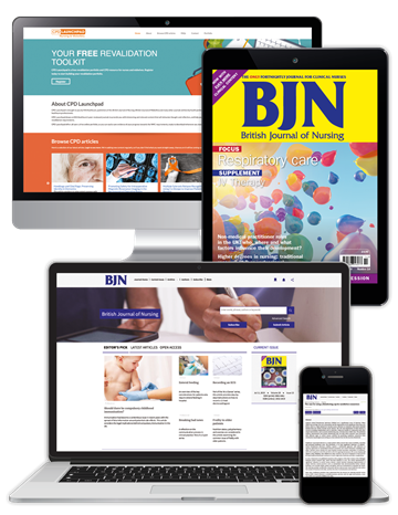 Picture of British Journal of Nursing Premium - Digital, Website & CPD