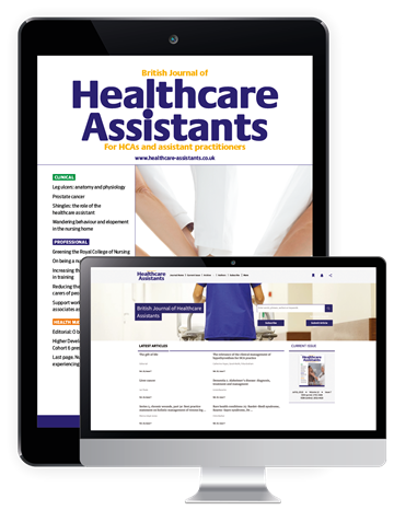 Picture of British Journal of Healthcare Assistants Digital & Website