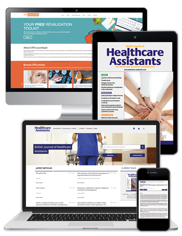 Picture of British Journal of Healthcare Assistants Premium - Digital, Website & CPD
