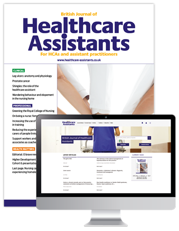 Picture of British Journal of Healthcare Assistants Print & Website