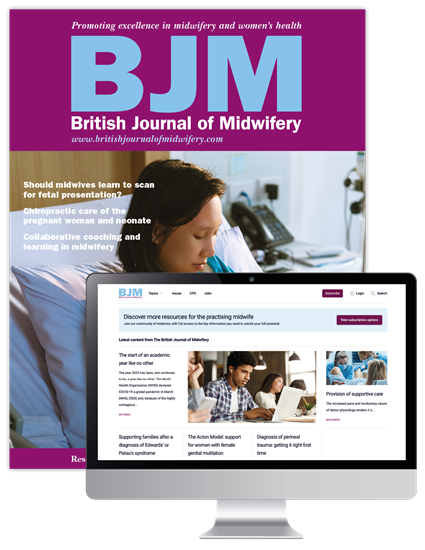 Picture of British Journal of Midwifery Print & Website
