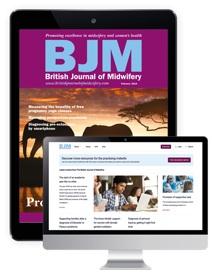 Picture of British Journal of Midwifery Digital & Website