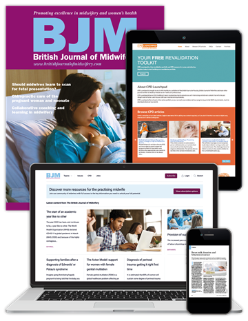 Picture of British Journal of Midwifery - Print, Website & CPD