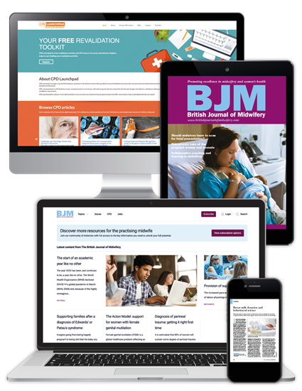 Picture of British Journal of Midwifery - Digital, Website & CPD