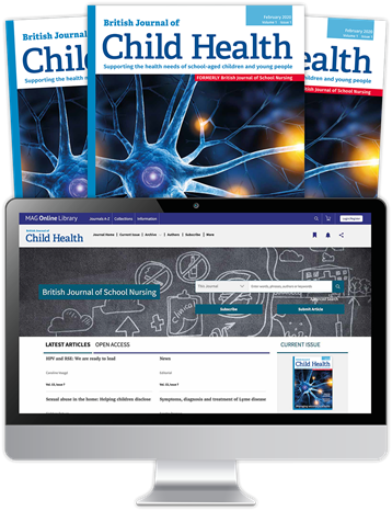 Picture of British Journal of Child Health Print, Website & CPD SAPHNA Members
