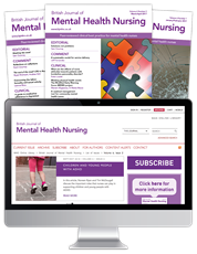 Picture for category British Journal of Mental Health Nursing - Black Friday Sale